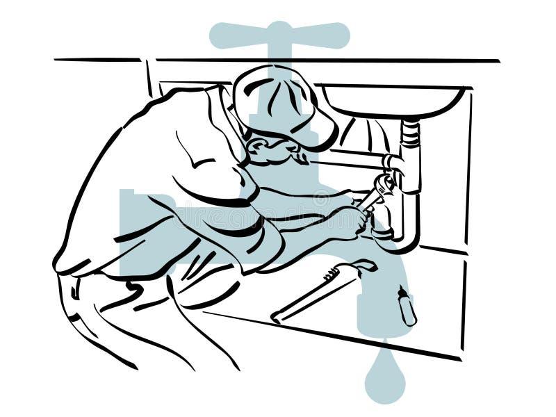 Idraulico illustrazione di stock
