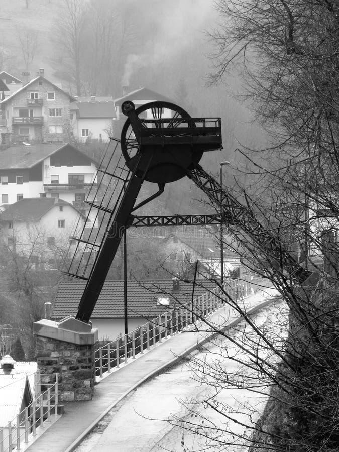 Idrija onder Unesco erkende plaats stock foto
