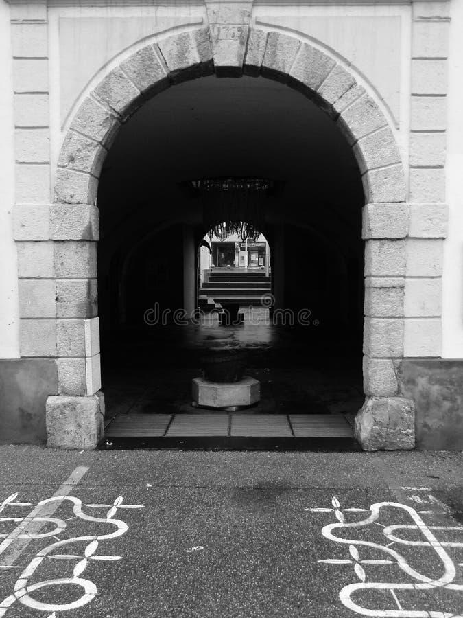 Idrija sotto l'Unesco ha riconosciuto il posto fotografia stock