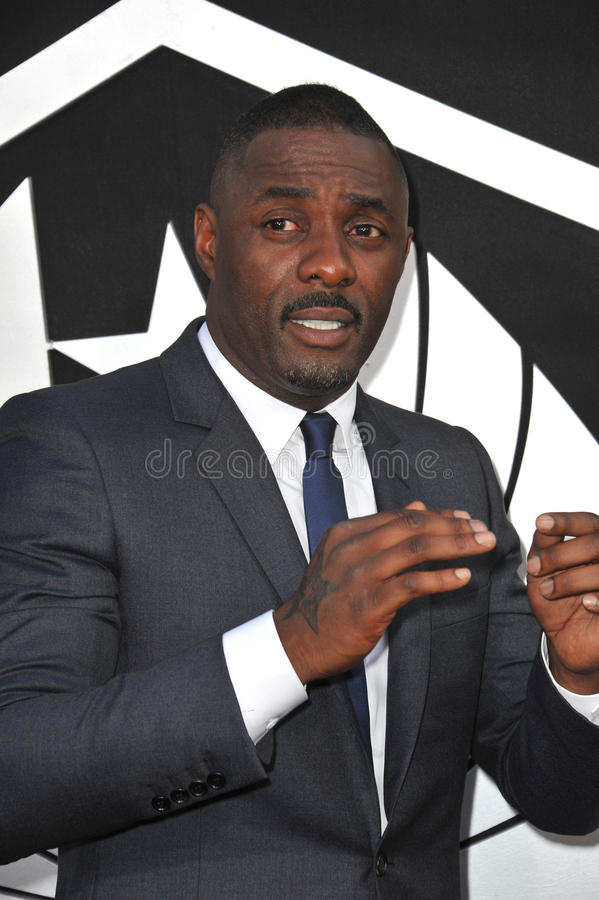 Idris Elba. LOS ANGELES, CA - JULY 9, 2013: Idris Elba at the premiere of his new movie Pacific Rim at the Dolby Theatre, Hollywood royalty free stock photo