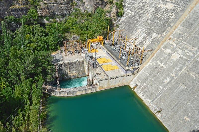 Idro centrale elettrica elettrica immagini stock libere da diritti