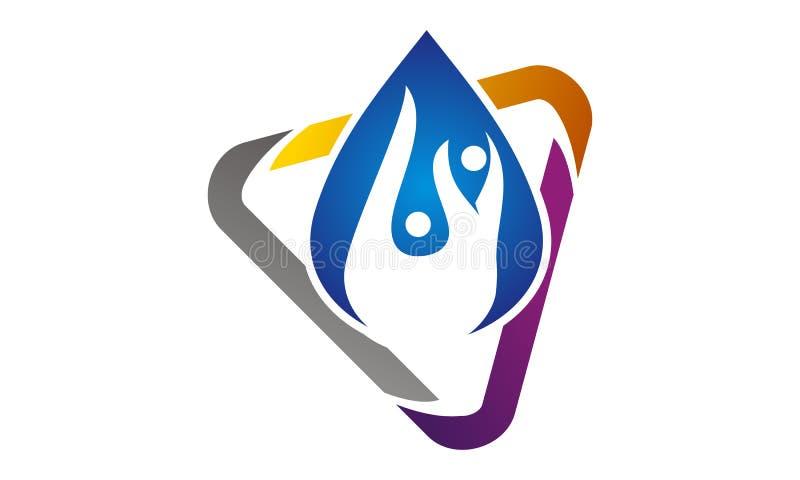 Idro Logo Design Template in buona salute royalty illustrazione gratis