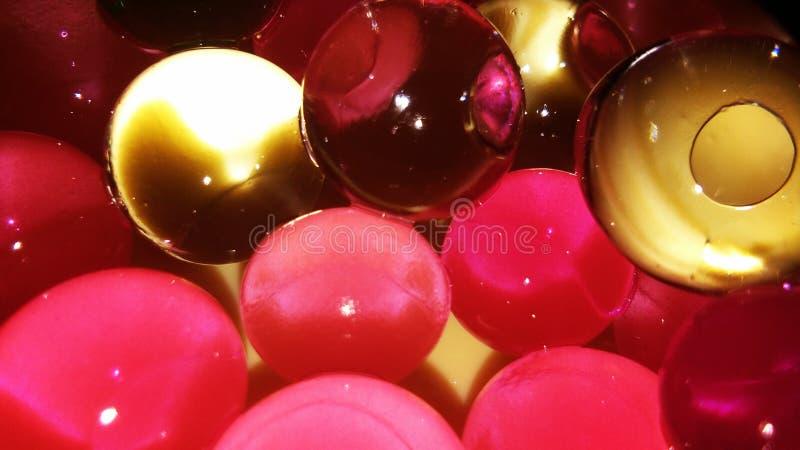 Idro perle del gel o idro bolle fotografie stock libere da diritti