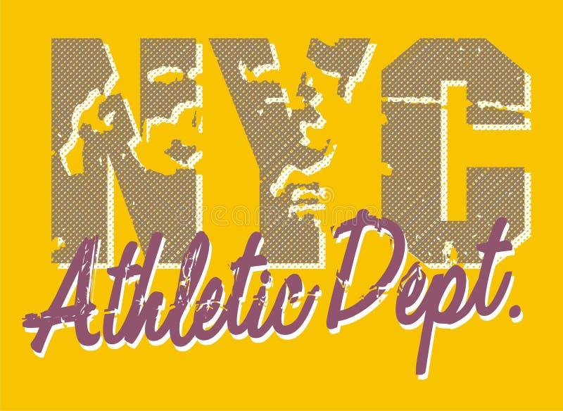 idrotts- avdelnings-nyc stock illustrationer
