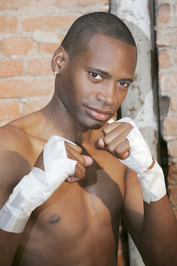 idrotts- boxaremanbarn royaltyfri bild
