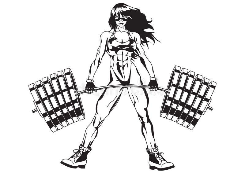 idrotts- flicka vektor illustrationer