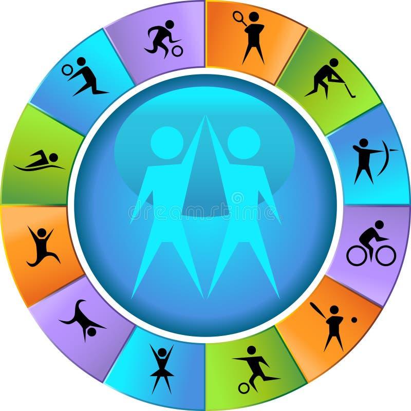 idrotts- hjul royaltyfri illustrationer