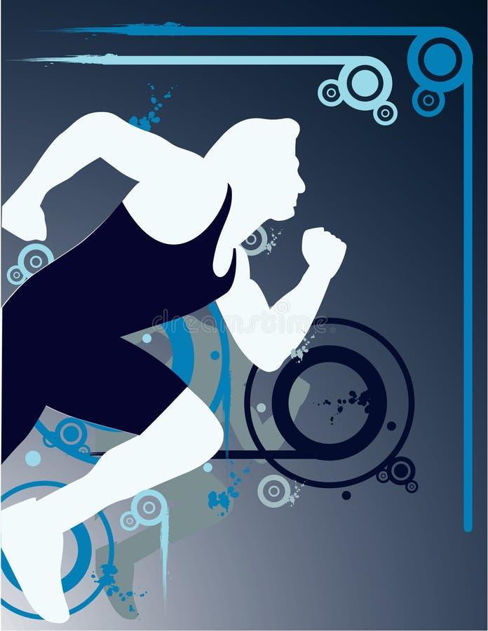 idrotts- man stock illustrationer