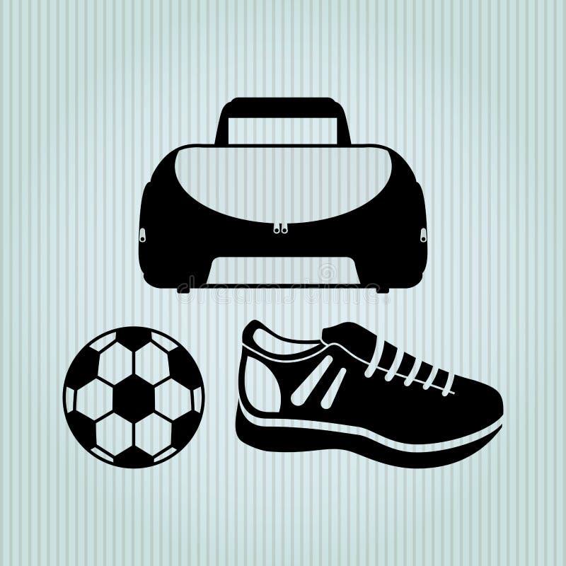 idrottshallbegreppsdesign royaltyfri illustrationer