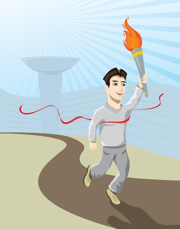 idrottsman nen vektor illustrationer