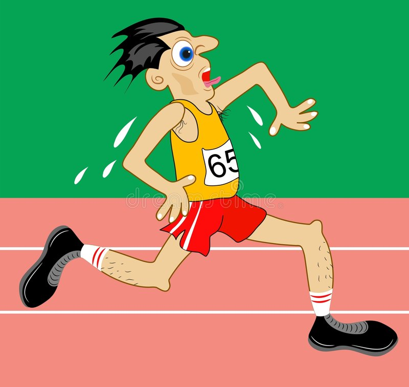 idrottsman nen stock illustrationer