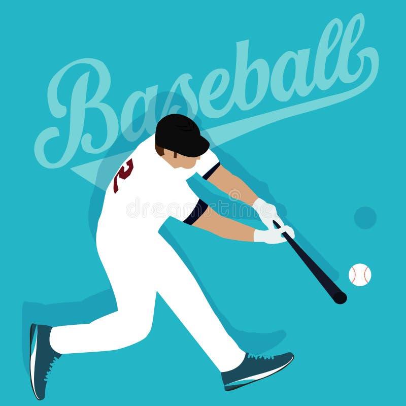 Idrottsman nen för sport för basebollspelareslagboll amerikansk royaltyfri illustrationer