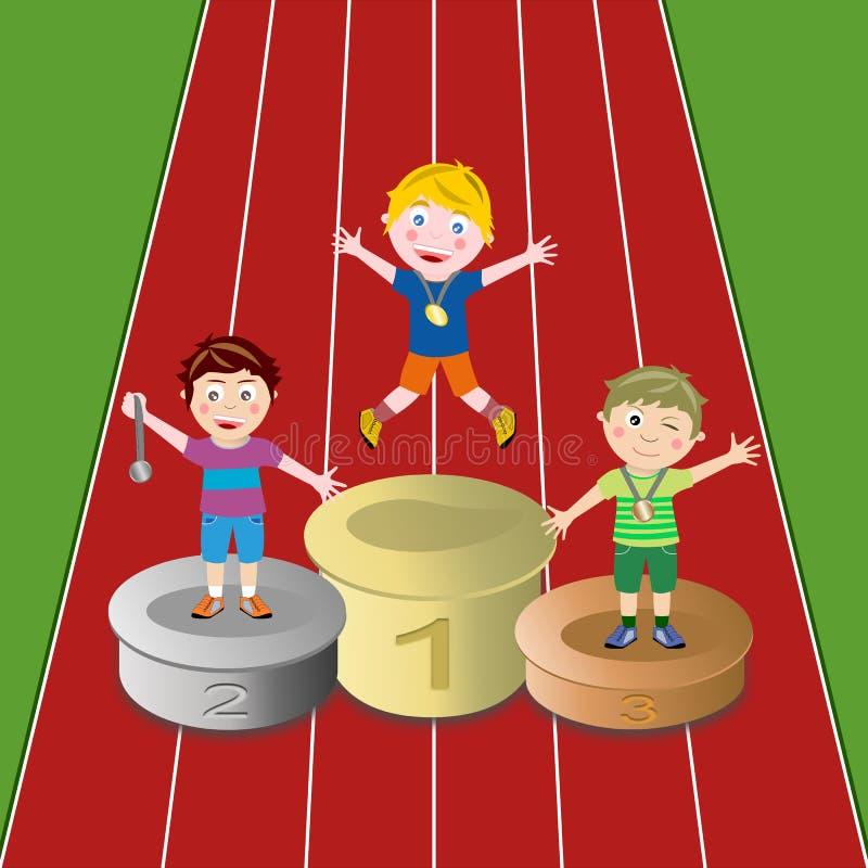 idrottsman nenvinnare stock illustrationer