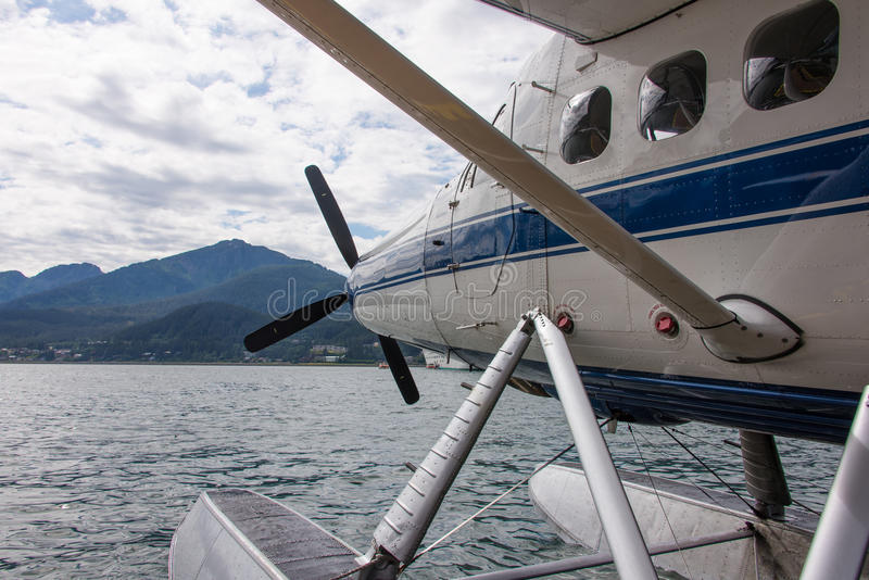 Idrovolante nell'Alaska immagini stock