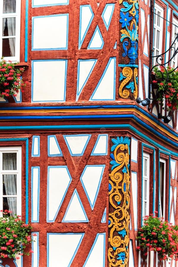Idstein - живописная древесина timbered старый городок в горах Taunus, Германия стоковое изображение rf