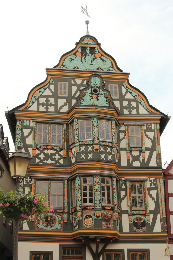 Idstein, Germany. Medieval architecture and half-timbered houses (or Fachwerk) in Idstein, Hesse, Germany. The German Timber-Frame Road (Deutsche Fachwerkstra stock photography