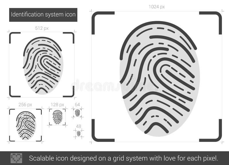 IDsystemlinje symbol royaltyfri illustrationer