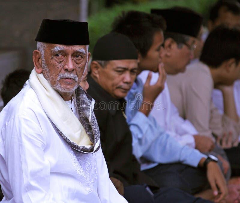 Idul的Fitri,印度尼西亚回教人 免版税库存照片
