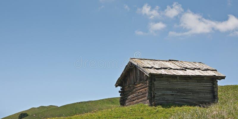 idyll della capanna del fieno fotografia stock
