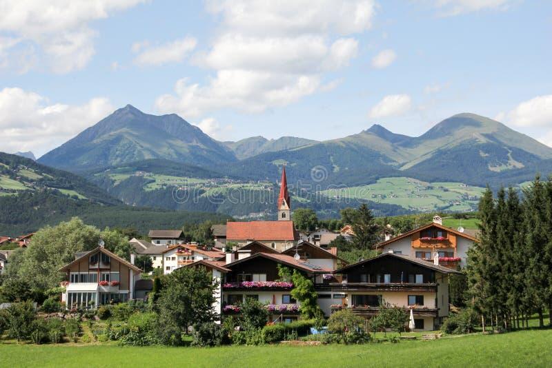 Idyllic Bavarian Landscape, Village And Zugspitze royalty free stock image