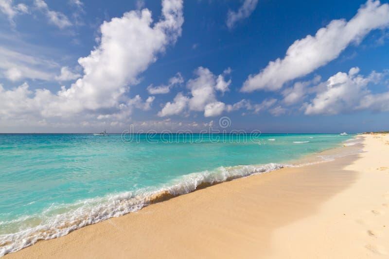 Idyllic beach of Caribbean Sea royalty free stock images