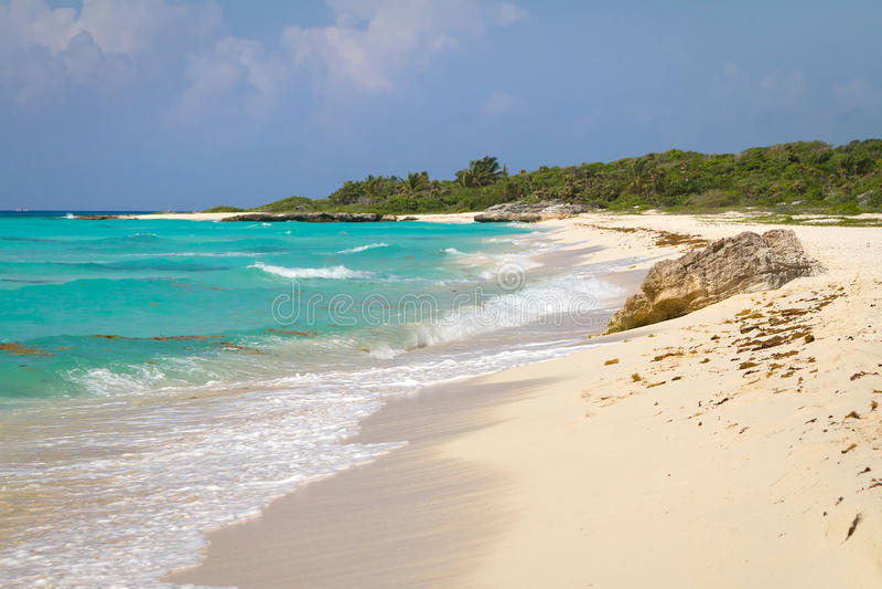 Idyllic beach of Caribbean Sea royalty free stock photography