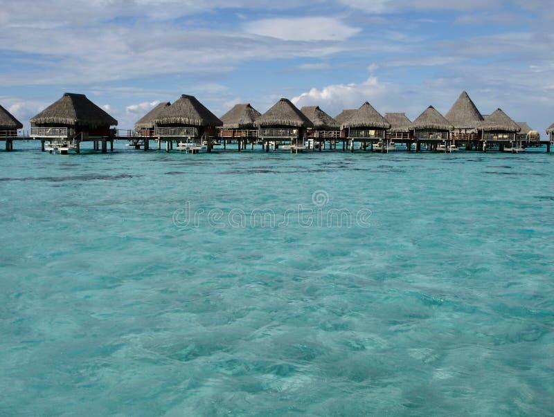 Idyllic beach located in Tahiti. Seascape in Morea, French Polynesia royalty free stock photos