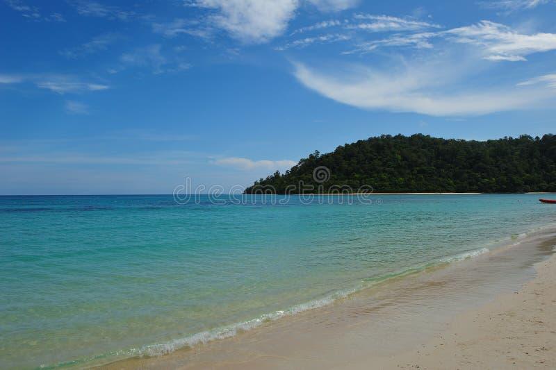 Idyllic beach at Rok Island royalty free stock image