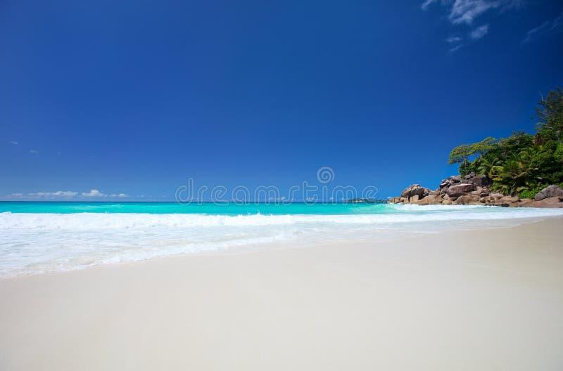 Idyllic Beach In Seychelles Stock Photo