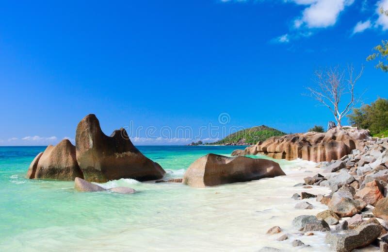 Idyllic Beach In Seychelles Royalty Free Stock Image