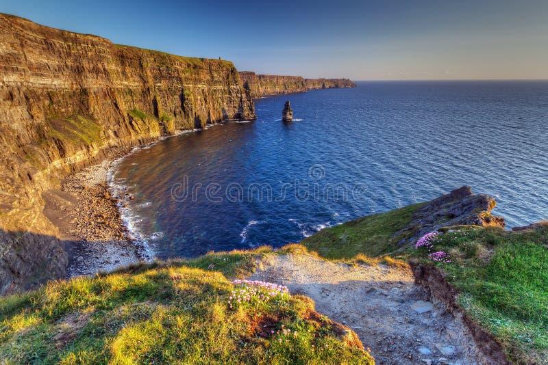 Idyllic Cliffs of Moher in Ireland stock photo