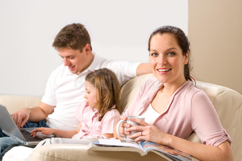 Download Idyllic Family Portrait In Their Home Royalty Free Stock Photography - Image: 31443157