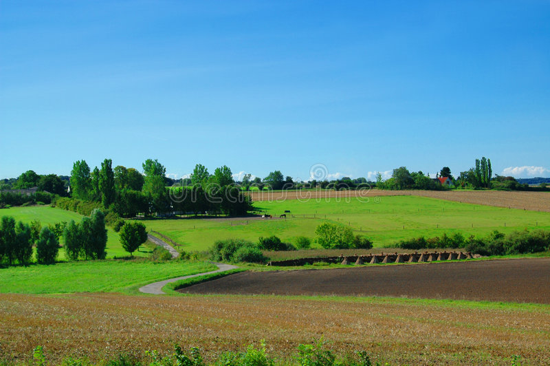 Idyllic Farm Landscape stock photos