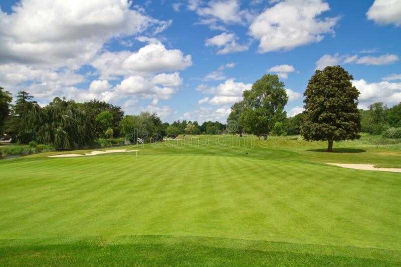 Idyllic golf course royalty free stock photo