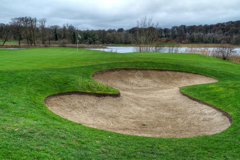 Idyllic golf course - HDR stock photo