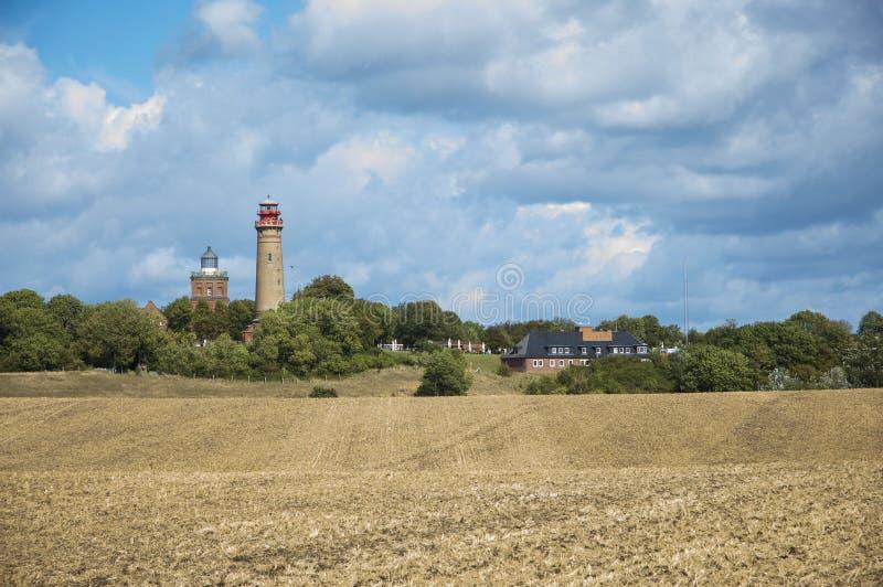Idyllic landscape with lighthouse stock photos