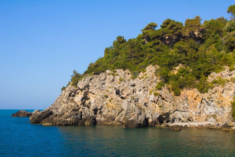 Idyllic landscape near Talamone in Tuscany royalty free stock images