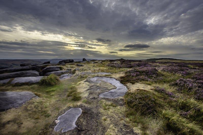 Idyllic landscape of Peak District National Park, Derbyshire, Uk royalty free stock photo