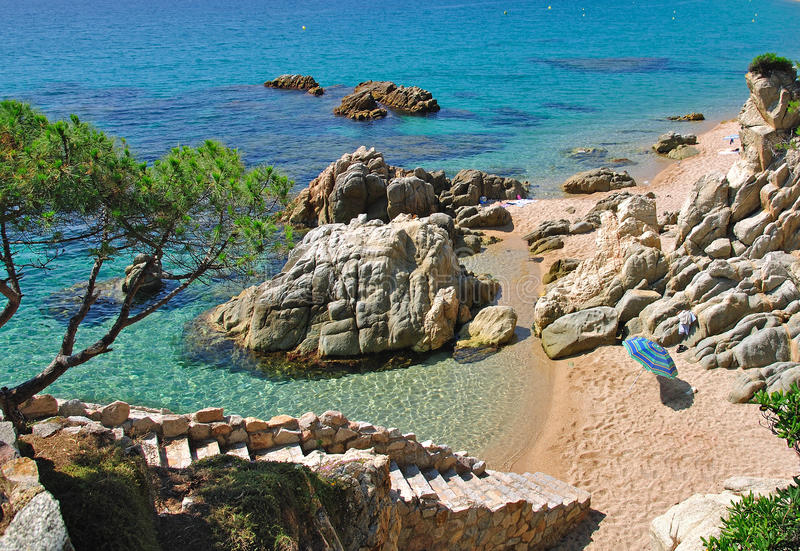 Idyllic place on the costa brava royalty free stock photos