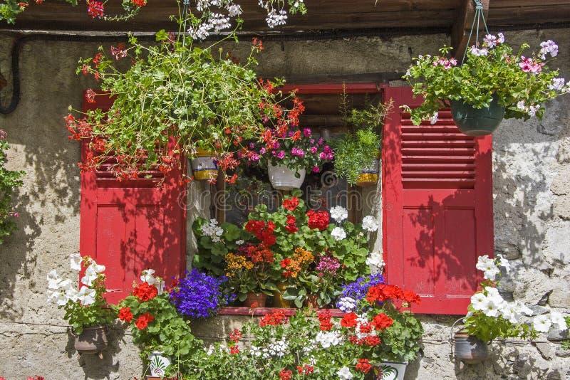 Idyllic residential house in Savoy stock photos