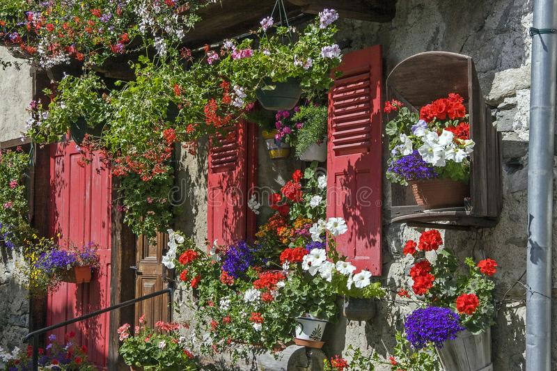Idyllic residential house in Savoy royalty free stock images