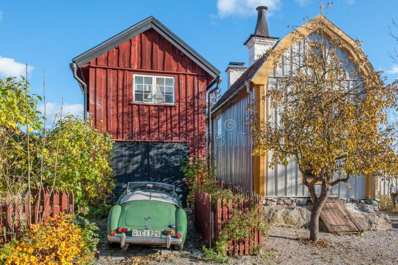 Idyllic Söderköping during autumn royalty free stock photography