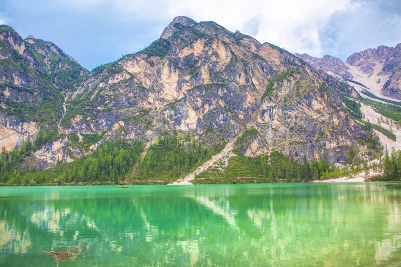 Idyllic mountain stock photo