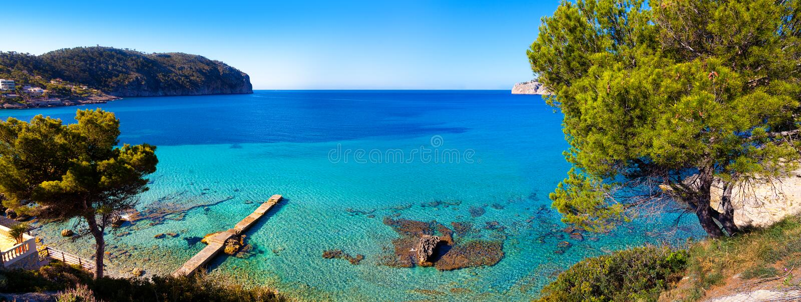 Idyllic Sea View in Mallorca stock images
