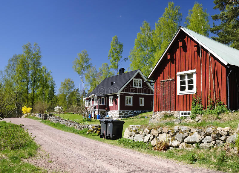 Idyllic Swedish countryside royalty free stock photos