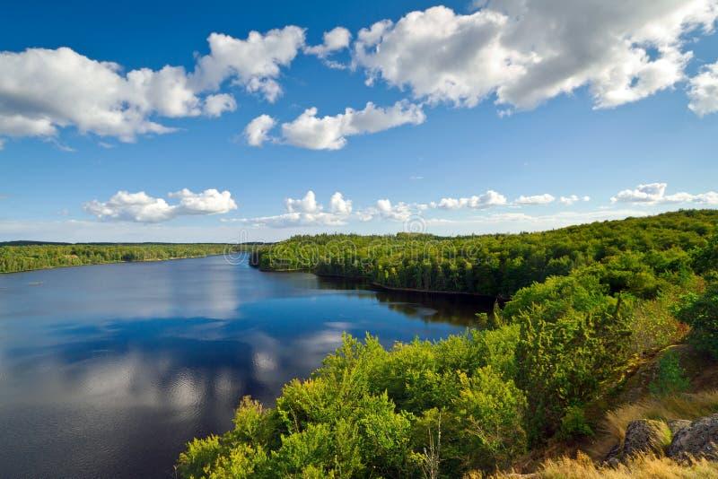 Download Idyllic Swedish lake stock image. Image of pond, panoramic - 26719417
