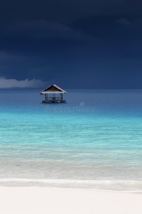 Idyllic tropical white sand beach royalty free stock images