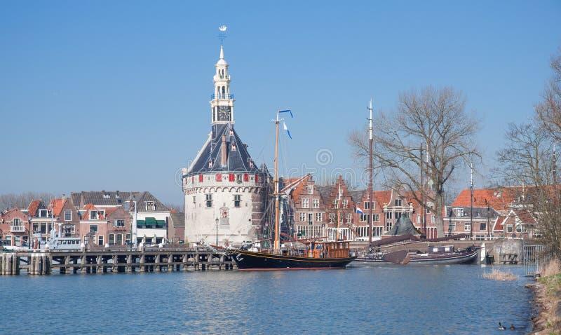 Hoorn,Ijsselmeer,Netherlands. The idyllic Village of Hoorn at Ijsselmeer,Netherlands royalty free stock images