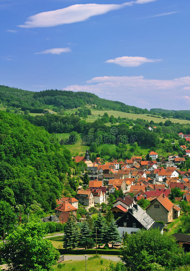 Free Idyllic Village In The Thuringian Forest Royalty Free Stock Photo - 22330235