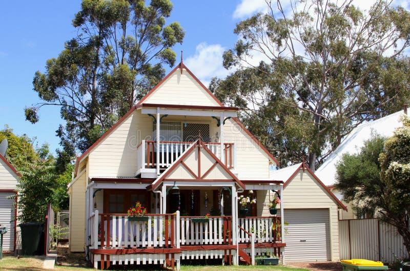 Idylliczna drewniana willa z werandami, zachodnia australia zdjęcie stock